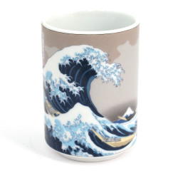 tasse japonaise à thé vague hokusai en céramique 52715