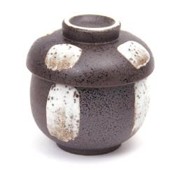 Bol à thé japonais Chawanmushi avec couvercle, BURACHI