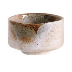 White Japanese ceramic tea bowl 143 143