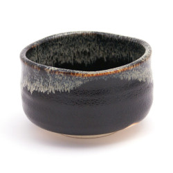 black japanese tea bowl for tea ceremony YUTEKI