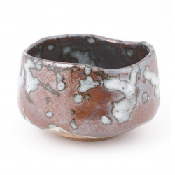 Japanese bowl brown ceramic tea RAKU