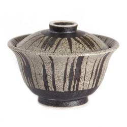 Japanese ceramic bowl with lid SUICHOKU-SEN