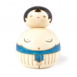 Poupée japonaise KOKESHI - Osumosan bleu