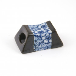 soporte para palillos de cerámica, SHIMITSU SHUNJÛ, azul
