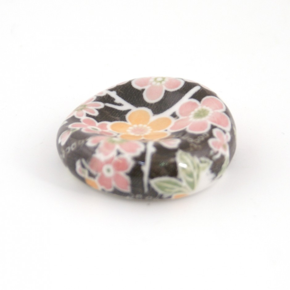 Japanese ceramic chopsticks holder sakura