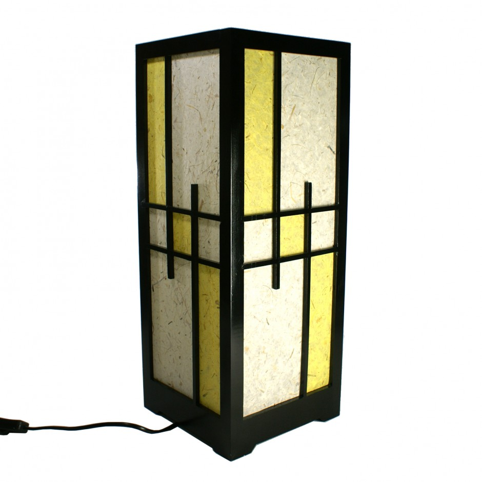 japanese lamp wood and paper 4120