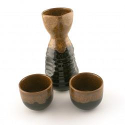 service à saké japonais noir bouteille 160 cc