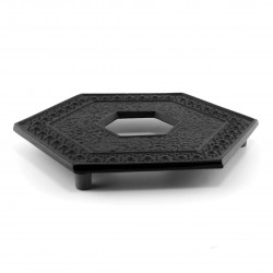 Japanese trivet for teapot, KIKKO, black
