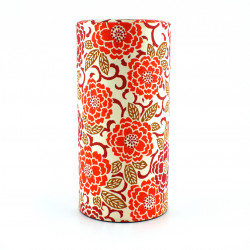 boîte à thé japonaise en papier washi, EDOYUZEN SAKURAE, Sakura orange