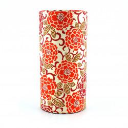 Scatola da tè giapponese in carta washi, EDOYUZEN SAKURAE, Sakura orange