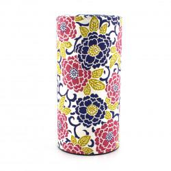 Caja de té japonesa de papel washi, SAKURAE AZUKI, rosa