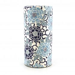boîte à thé japonaise en papier washi, EDOYUZEN SAKURAE, bleu