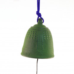 Great cast iron wind bell from Japan, IWACHU, green temple