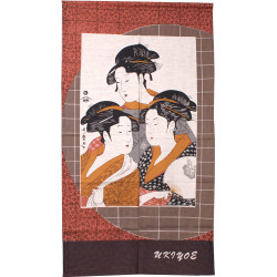 Japanese curtain NOREN ``3 ladies``