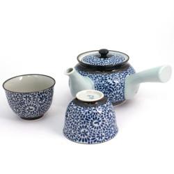 service japonais à thé bleu en céramique 348-405-908