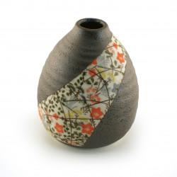 japanese vase, NISHIKIORI ICHIRINSASHI, flowery