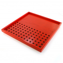japanese red wooden tray 16MC6161795