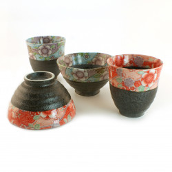 Japanese rice bowl set and cup set 4 pieces 17MYA445525