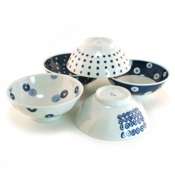 set de 5 bols japonais collection indigo 16M1613310