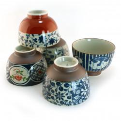 set de 5 bols à riz japonais 16M1631840