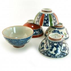 Set of 5 bowls Japanese rice 16M1614052