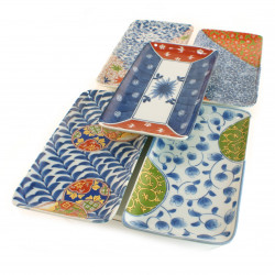 set de 5 assiettes japonaises rectangulaire 16MS8650157