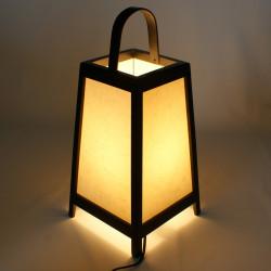 Lampe de table japonaise ADIDA noire