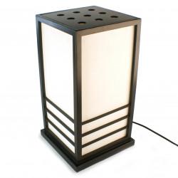 Grande lampe de table japonaise NIKKO noire