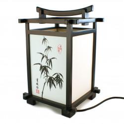 Lampe de table SHINDEN japonaise noire Bambou