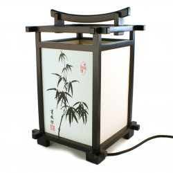 Lamp black japanese bamboo shinden table lamp black japanese bamboo shinden geotapseo Image collections