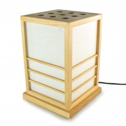 Lampe de table japonaise NIKKO couleur naturelle