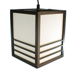 Lampe japonaise plafonier noire KIKKO