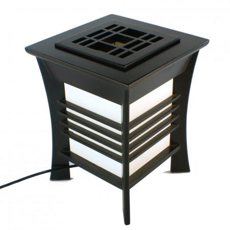 Lampe de table japonaise, AKIDA, noire