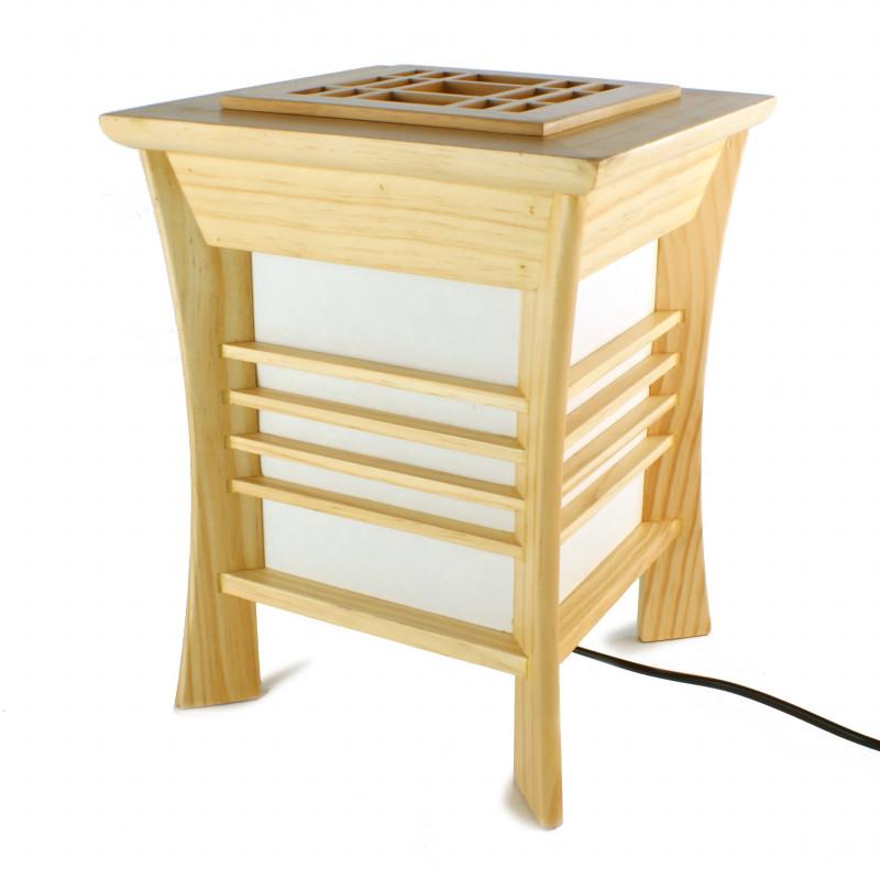 Lampe de table japonaise couleur naturelle AKIDA