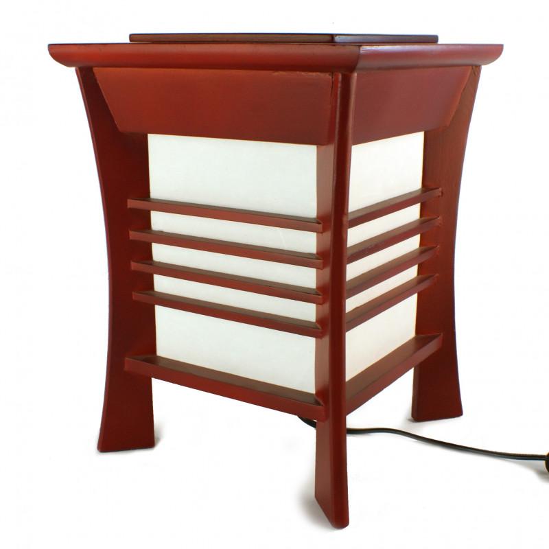 Lampe de table japonaise rouge AKIDA