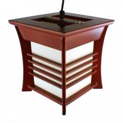 Lampe japonaise plafonier rouge AKIDA