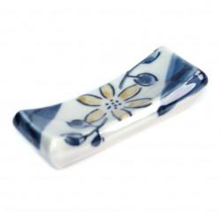 repose baguettes japonais, fleur, bleu et grise