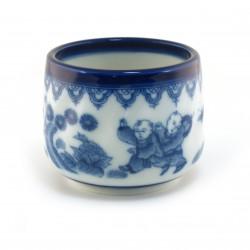 tasse japonaise bleu blanc traditionnelle 16M5741448E