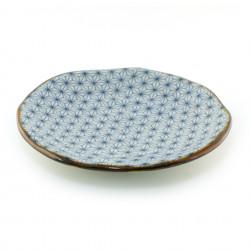 Japanese 245-6-2E round ceramic plate