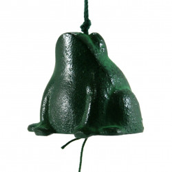 Japan cast iron wind bell, KAERU, frog