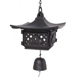 Big wind bell made of cast iron from Japan, GASSHO, pagoda