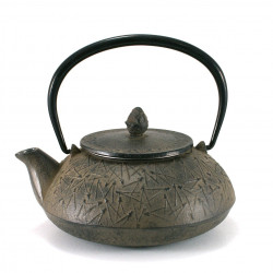 japanese Cast Iron Teapots, pine, sabi grey, 0,6 lt