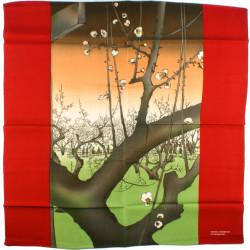 furoshiki japonais - Le jardin des pruniers à Kameido - Hiroshige