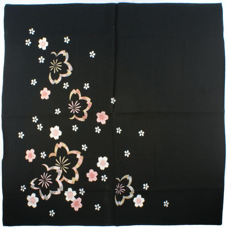 furoshiki japonais noir Chuya Sakura