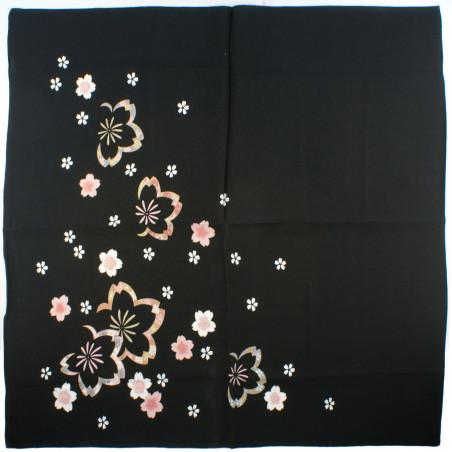 furoshiki japonais, CHUYA SAKURA, noir