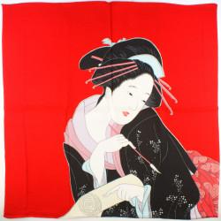 furoshiki japonais, HARUMACHI BIJIN, rouge