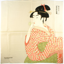 furoshiki japonais beige geisha - Vidro