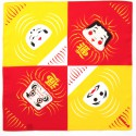 japanese furoshiki, DARUMA, yellow and red