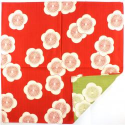 red japanese furoshiki - UME