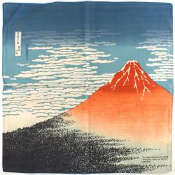 furoshiki en coton japonais Mont fuji Hokusai